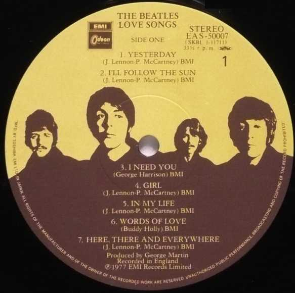 Love Songs/The Beatles 名盤INFO